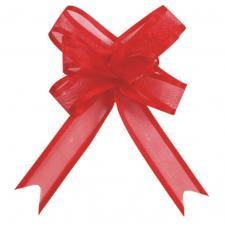 Noeud automatique organdi rouge (x5) REF/2826