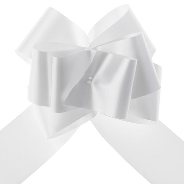 Noeud automatique blanc pour decoration voiture