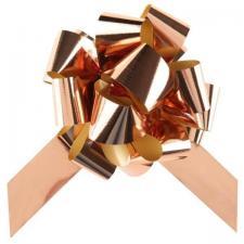 Grand noeud à tirer automatique rose gold métallique de 50mm pour votre décoration (x5) REF/1790