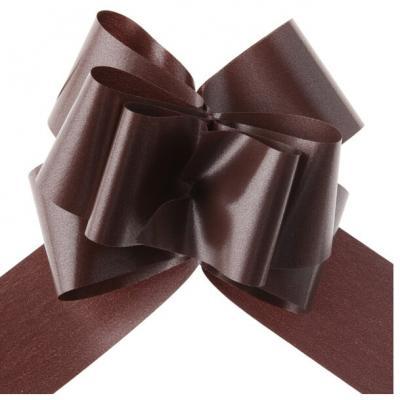 Noeud à tirer automatique chocolat, 50mm (x5) REF/70174