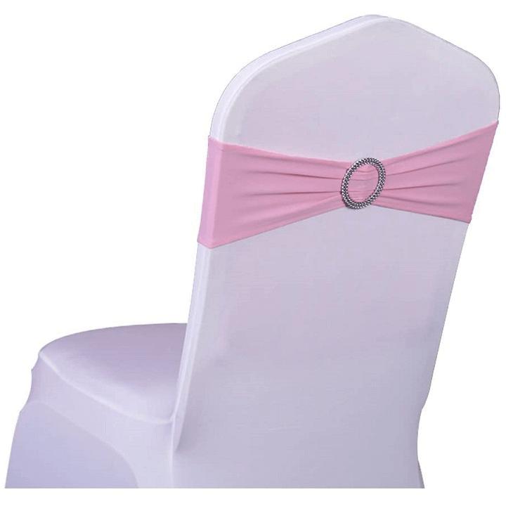 Noeud bandeau rose en location pour housse de chaise pas de calais