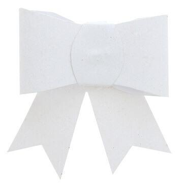 Noeud blanc pailleté sur pince (x2) REF/4414