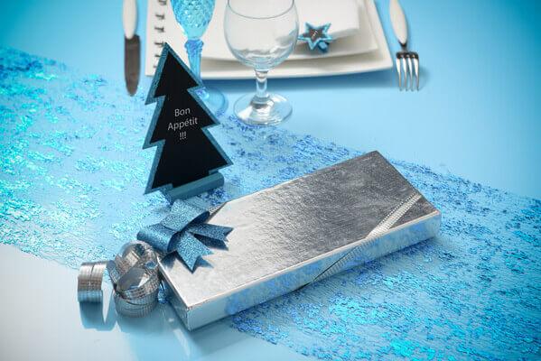 Noeud bleu turquoise