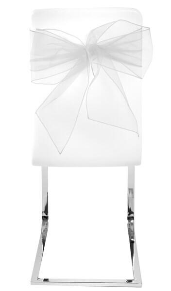 Noeud de chaise organdi blanc