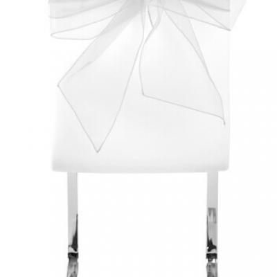 Noeud de chaise organdi blanc (x4) REF/5191