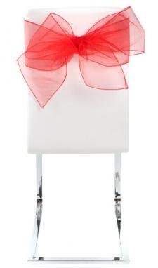 Noeud de chaise organdi rouge (x4) REF/5191