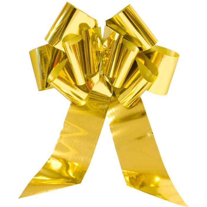 Noeud geant automatique cadeau or