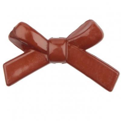 Perle chocolat noeud papillon (x12) REF/4055
