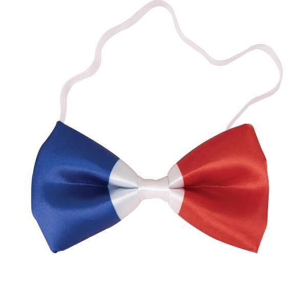Noeud papillon tricolore france supporters bleu blanc rouge