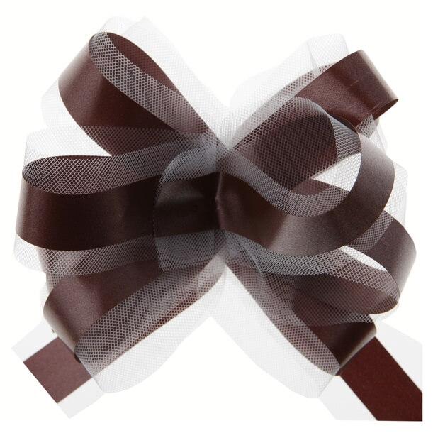 Noeud voiture en tulle chocolat