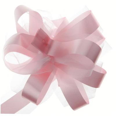 Noeud automatique tulle rose (x5) REF/70178