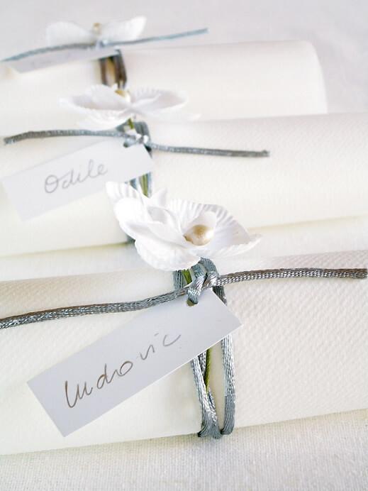 Orchidee blanche pour pliage de serviette
