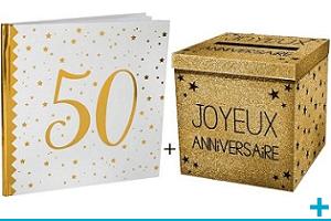 Pack decoration livre d or et tirelire urne anniversaire