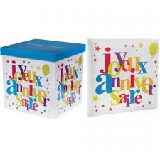 1 Pack urne et livre d'or joyeux anniversaire festif REF/4807-4761