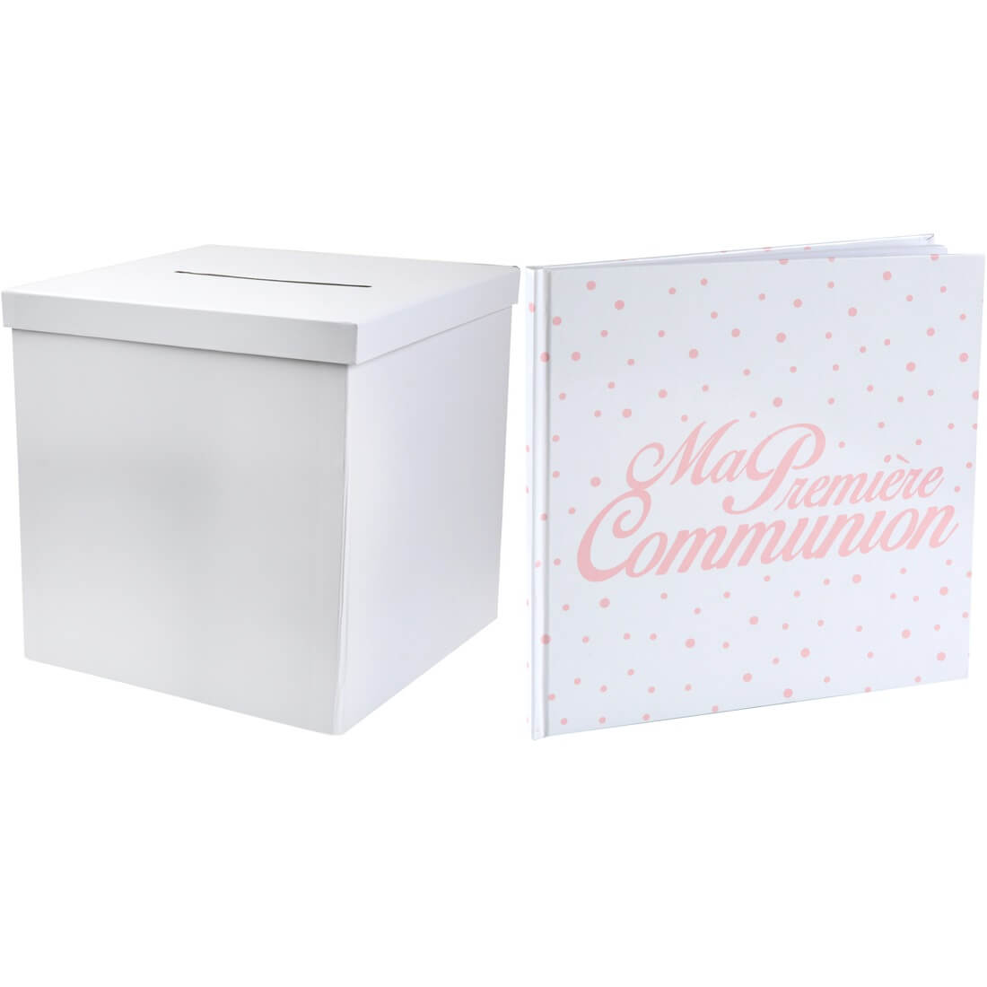 Pack livre d or et urne communion corail blanc