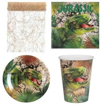 1 Pack décoration de table Dinosaure Jurassic pour 10 personnes.