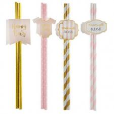 Paille baby shower fille (x8) REF/5720