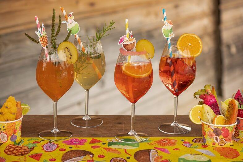 Paille cocktail decorative
