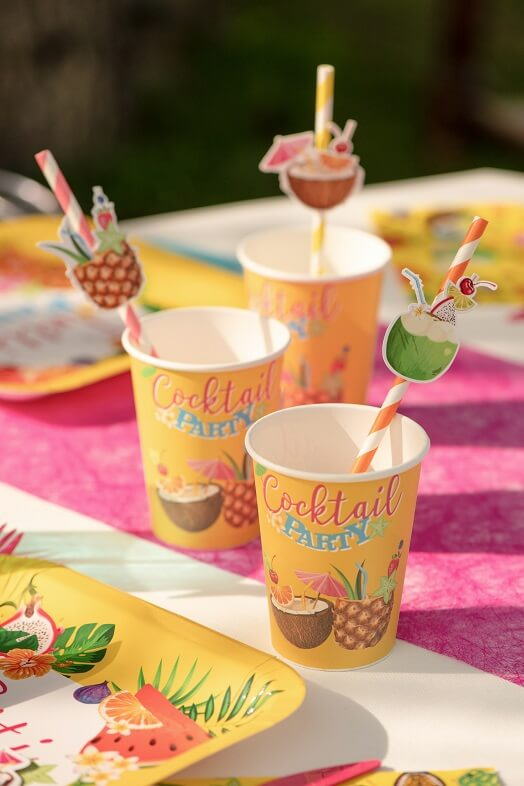 Paille cocktail tropicale