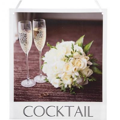 Pancarte mariage à suspendre: Cocktail (x1) REF/6294