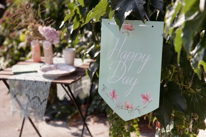 Pancarte a suspendre happy day mariage