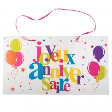 Pancarte à suspendre joyeux anniversaire (x1) REF/6155