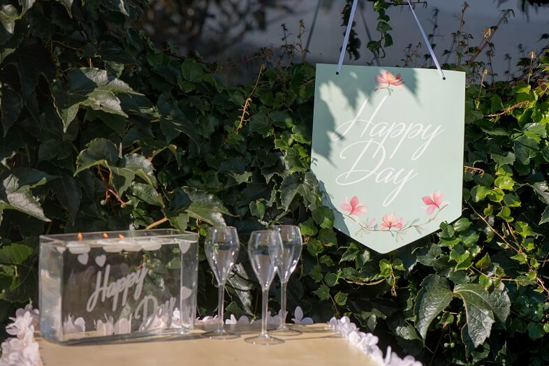Pancarte a suspendre mariage happy day