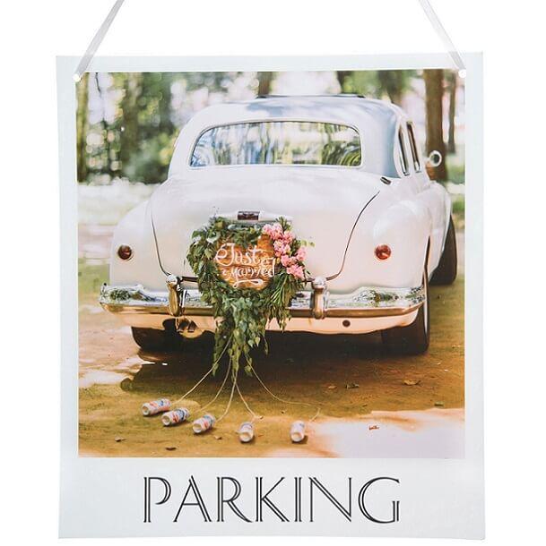Pancarte a suspendre parking