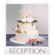 Pancarte mariage à suspendre: Réception (x1) REF/6294