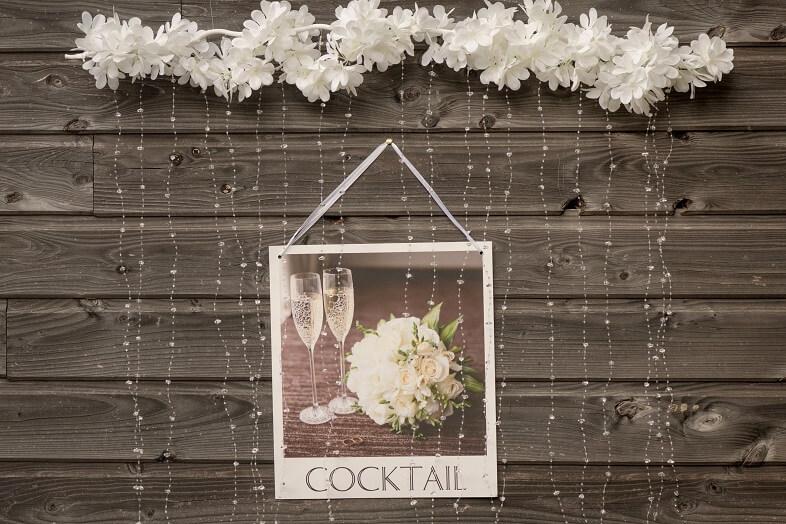 Pancarte signaletique cocktail