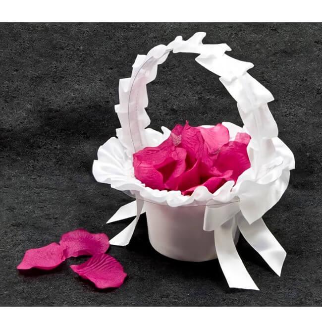 Panier a petale blanc pour mariage