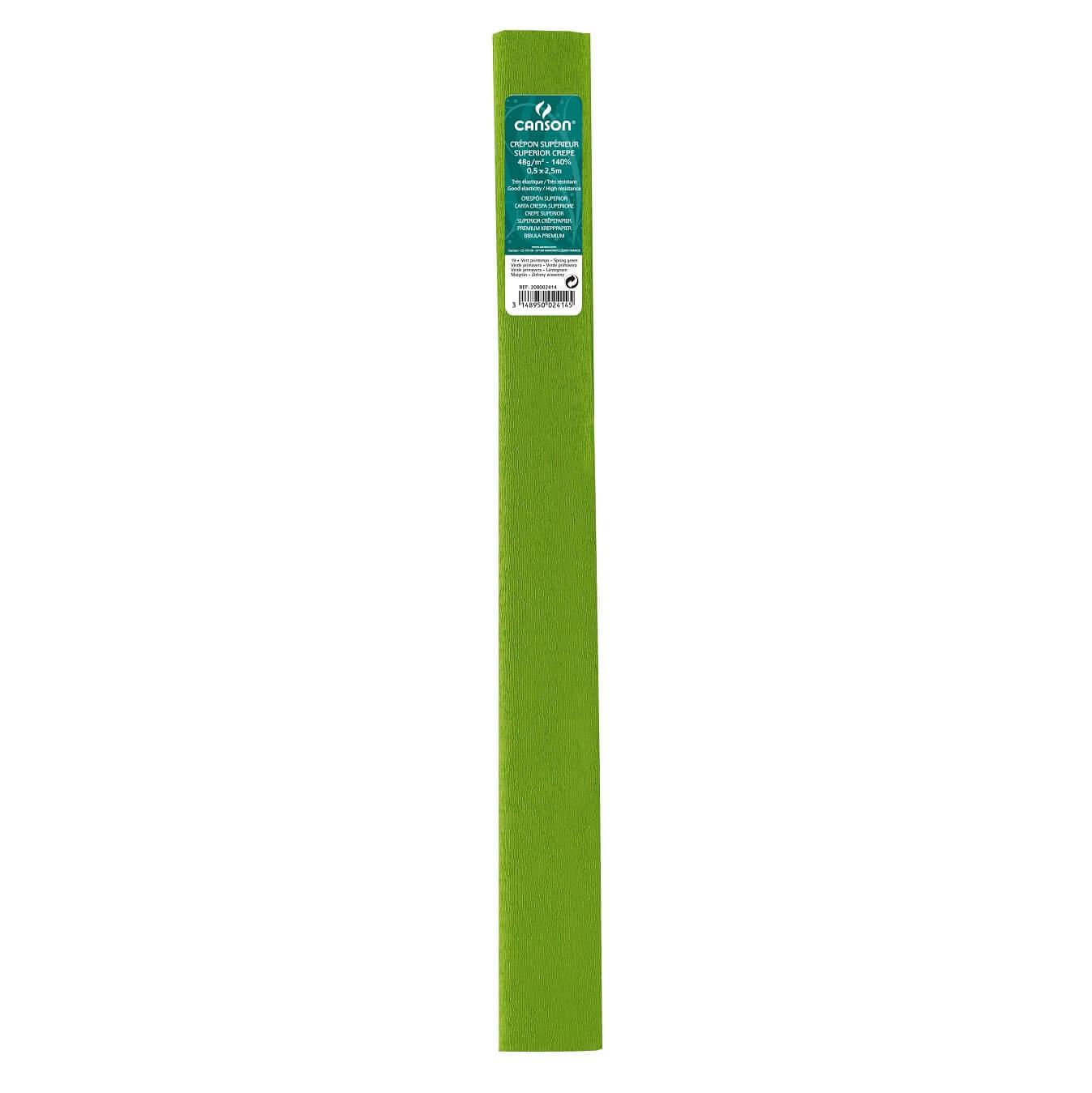 Papier crepon 48g vert printemps