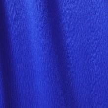Papier crépon bleu outremer 48g - 0.5cm x 2.5m (x1) REF/200002423