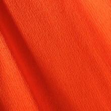 Papier crépon orange vif 48g - 0.5cm x 2.5m (x1) REF/200002568