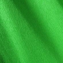 Papier crépon vert franc 48g - 0.5cm x 2.5m (x1) REF/200002416