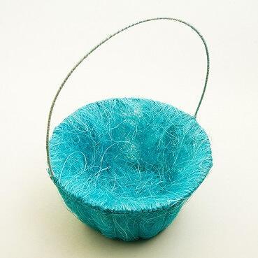 Panier pétales sisal bleu turquoise (x1) REF/ACM601