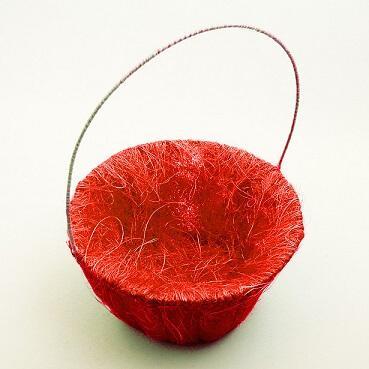Panier pétales sisal rouge (x1) REF/ACM601