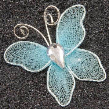 Papillon bleu turquoise 2