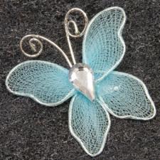 Papillon bleu turquoise (x10) REF/MT880