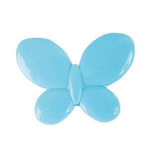 Perle bleu turquoise papillon avec perforation (x12) REF/3335