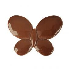 Perle chocolat papillon avec perforation (x12) REF/3335