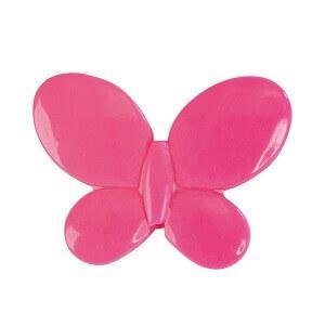 Perle fuchsia papillon avec perforation (x12) REF/3335