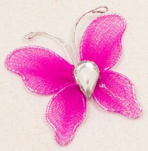 Papillon fuchsia (x10) REF/MT880
