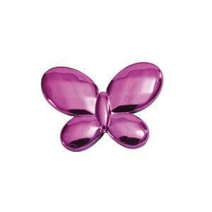 Perle blanche papillon avec perforation (x12) REF/3336