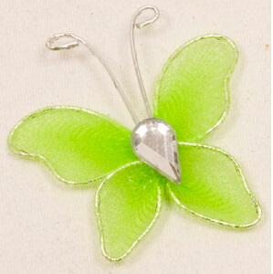 Papillon vert menthe