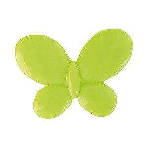 Perle verte papillon avec perforation (x12) REF/3335