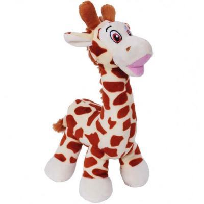 Peluche Girafe doudou beige et marron de 25cm (x1) REF/PDZ428