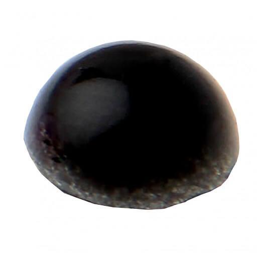 Perle autocollante noire
