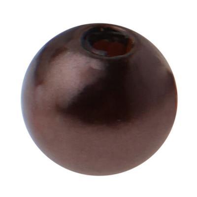 Perle chocolat avec perforation (x50) REF/3923