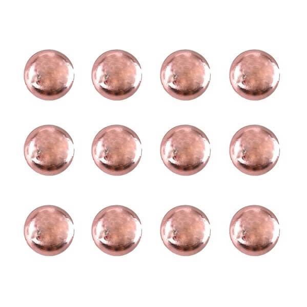 Perle de pluie rose gold metallisee